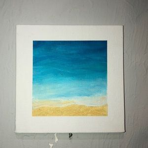 Tiny painting of beach!